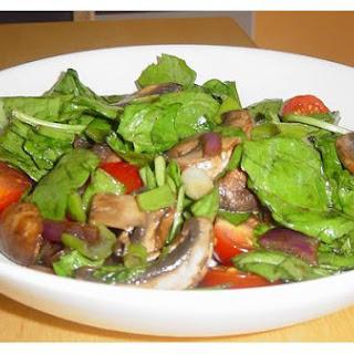 Warm Mushroom Salad.