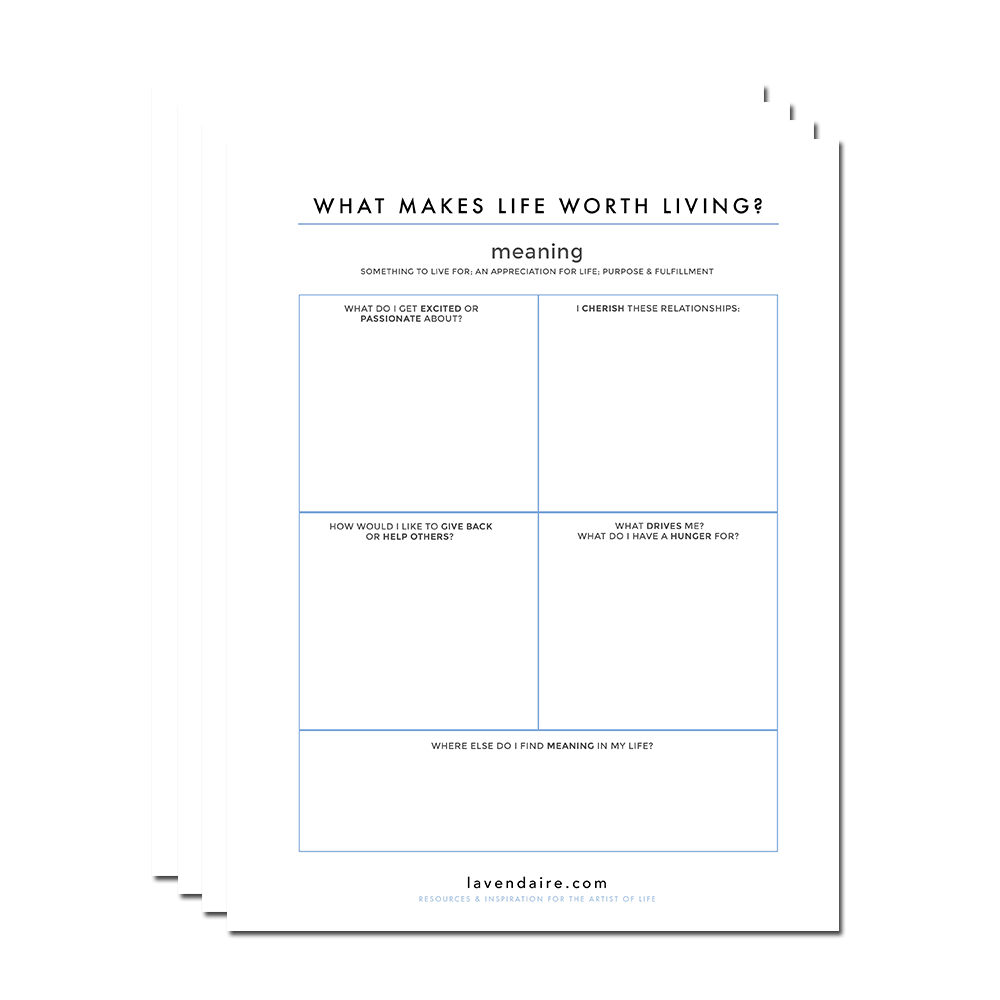 Finding Meaning Worksheet by Lavendaire