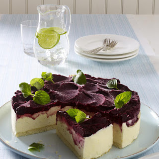 Lime Blueberry Ice Cream Cake.