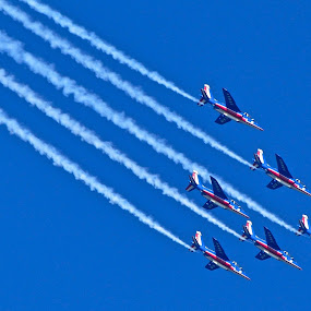 French Air Show by Sarita Jithin - Transportation Airplanes