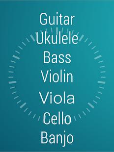 弦的調音器-吉他, 烏克麗麗, 貝斯, 小提琴 Screenshot