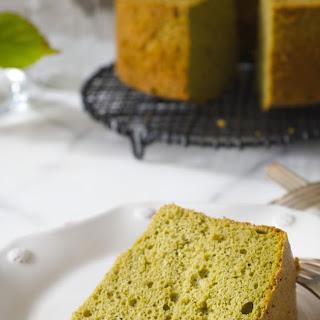 Matcha Chiffon Cake (gf)