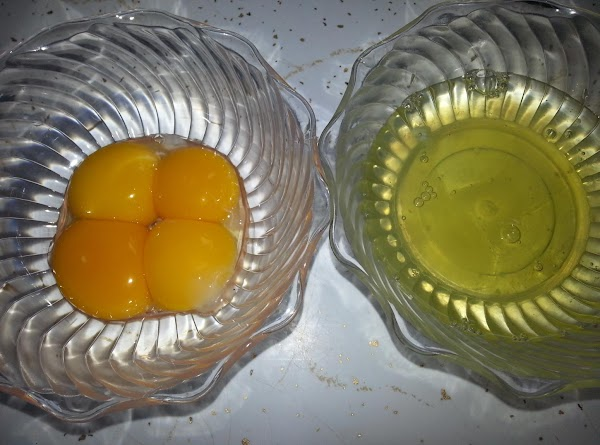 In a small bowl, mix together the 4 egg yolks and vanilla,  add...
