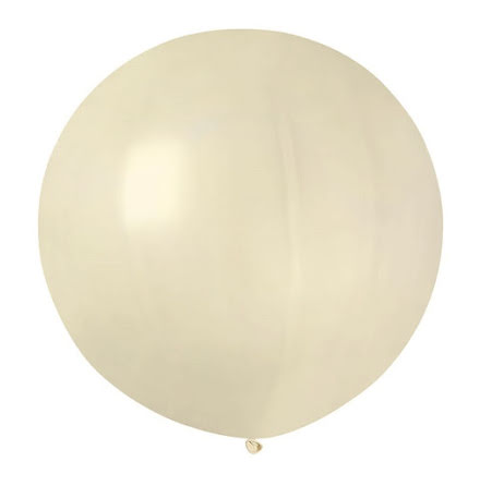Ballong rund 70 cm, ivory