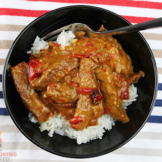 Mouthwatering Good Slow Cooker Satay Beef.