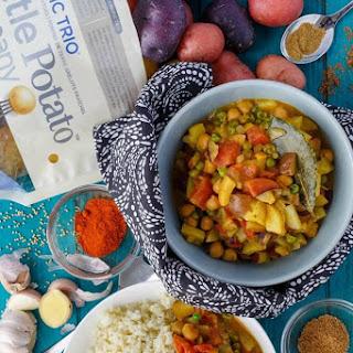 Vegan Potato Curry over Cauliflower Rice