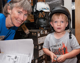 Photo: This little guy likes his tricycle so much that Grandma Betsy Solomon bright him in to a real bike shop