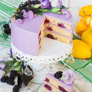 Lavender Lemon Blackberry Cake Recipe