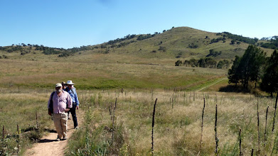 Photo: On the trail with Urambi Hill behind