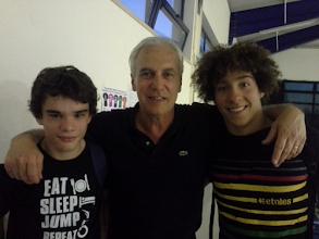 Photo: Campeões nacionais (Miguel e Henrique) com Stélio Lage