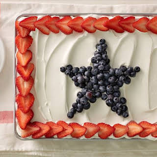 Angel Food Pudding Cake with Berries.