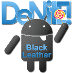 CM12 Theme  Black Leather Blue v1.64
