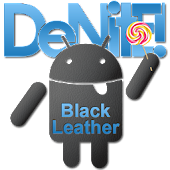 CM12 Theme  Black Leather Blue