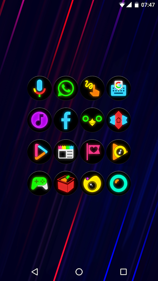 Neon Glow C - Icon Pack- screenshot