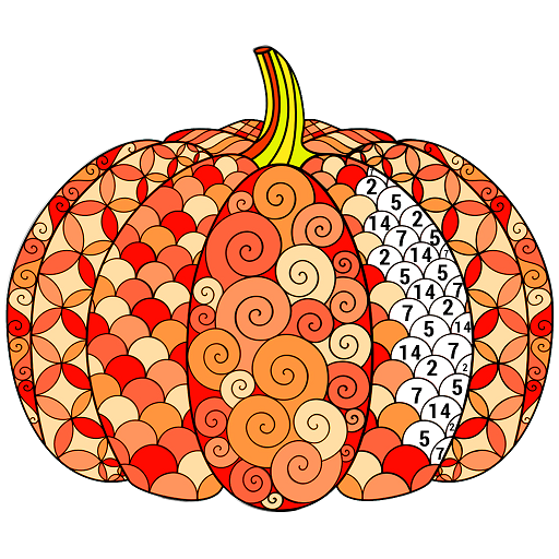 Halloween Color by Number - Adult Sandbox Coloring Icon