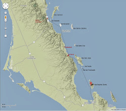 Photo: Tour map of Islands and mainland locations visited over nine days and 150+ miles.