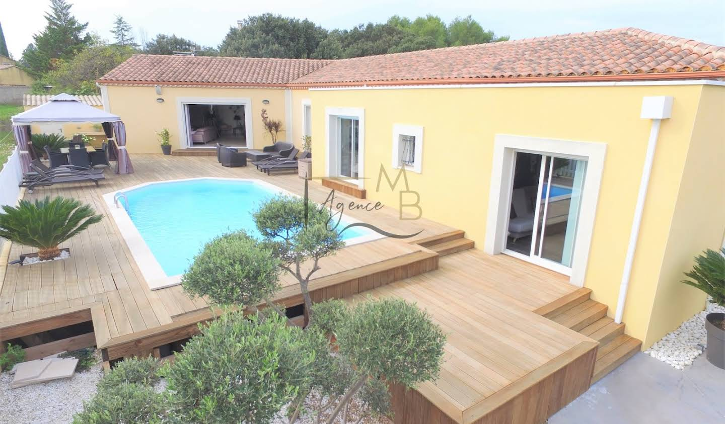 Villa with pool and terrace Boisseron