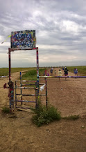 """Photo: August 9-""""You'll see Amarillo"""" and on the west side of Amarillo is this curious place, Cadillac Ranch."""