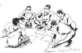 Photo: 桃少輔成長營之當我們同在一起2011.07.27鋼筆畫 成長營結束是新的開始,我們的愛會伴著你們走下去…