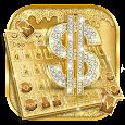 Golden Luxury Dollar Keyboard