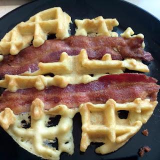 Bacon Almond Waffle.