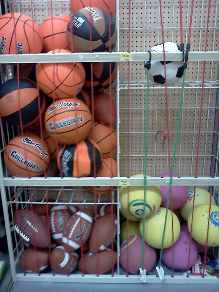 Photo: Not wanting to forget about the big kids, I do look for some options. These full size balls are just $5.96 each!