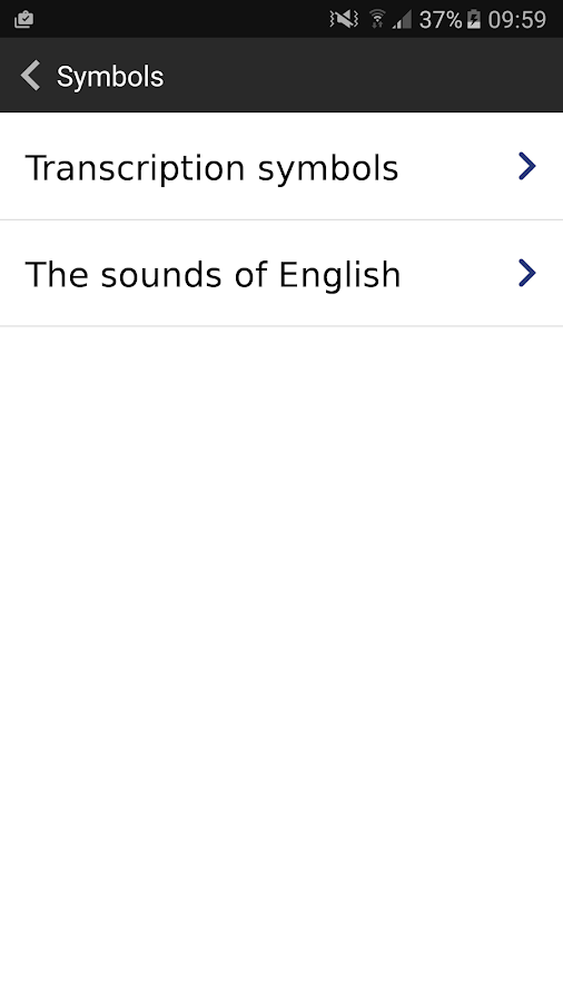 English Pronouncing Dictionary- หน้าจอ