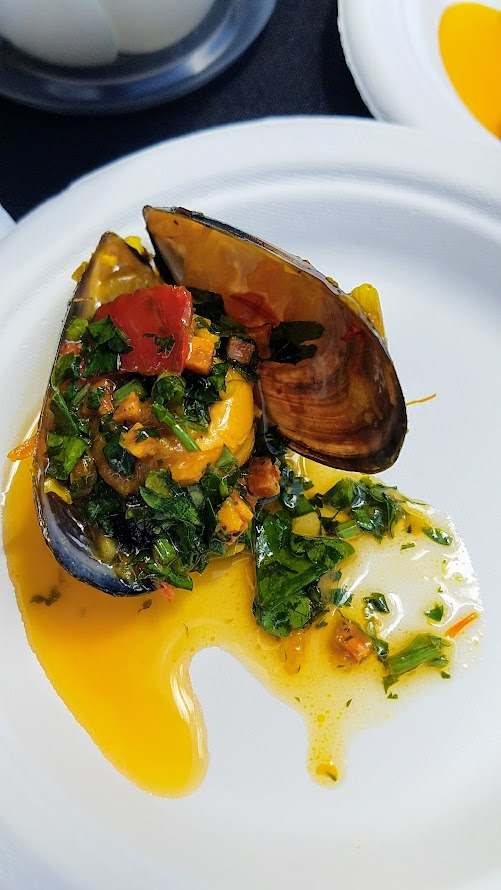 Photo Recap of Tastes of Spain, La Ruta PDX 2017, Multnomah Athletic Club Philippe Boulot: Mussels Remoulade with Chorizo Chimichurri