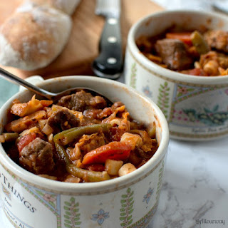 Rustic Italian Vegetable Beef Stew.