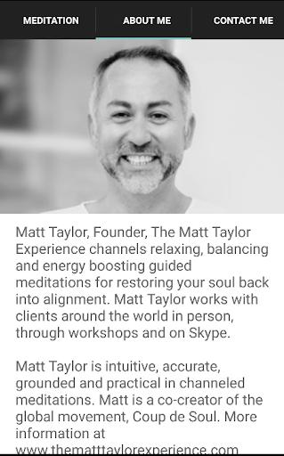 Matt Taylor Meditation