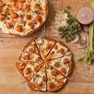 Healthy Buffalo Chicken Pizza.