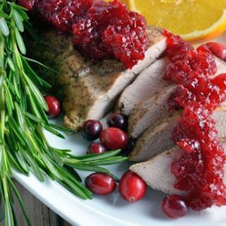 Spiced Pork Tenderloin with Cranberry Sauce