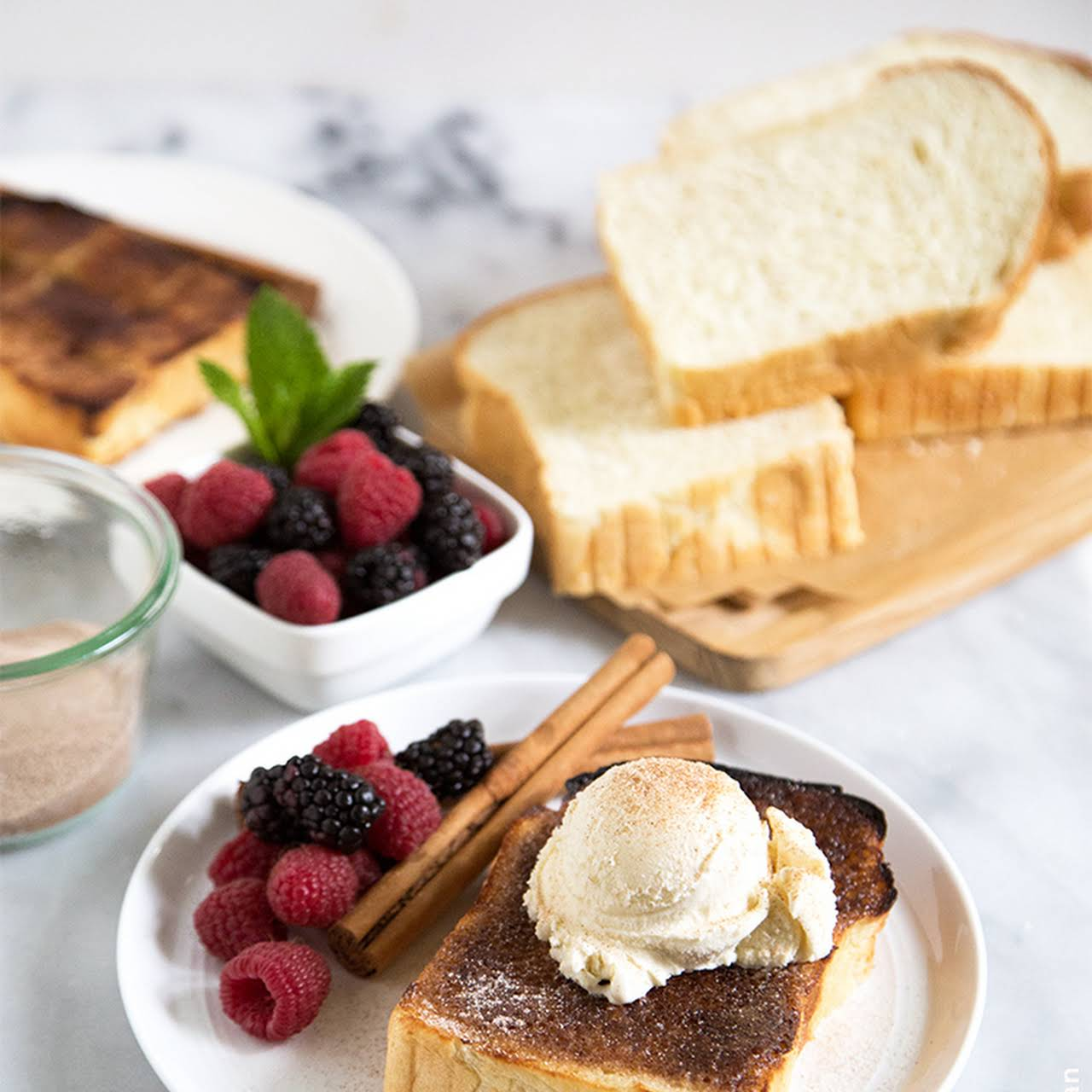 Cinnamon Sugar Milk Bread Toast