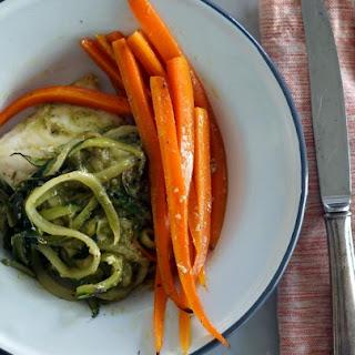 Parchment Baked Halibut & Veggies.