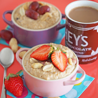 Peanut Butter and Jelly Oatmeal.