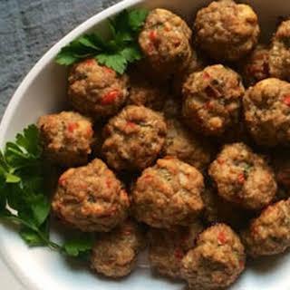 Giant Italian Meatballs.