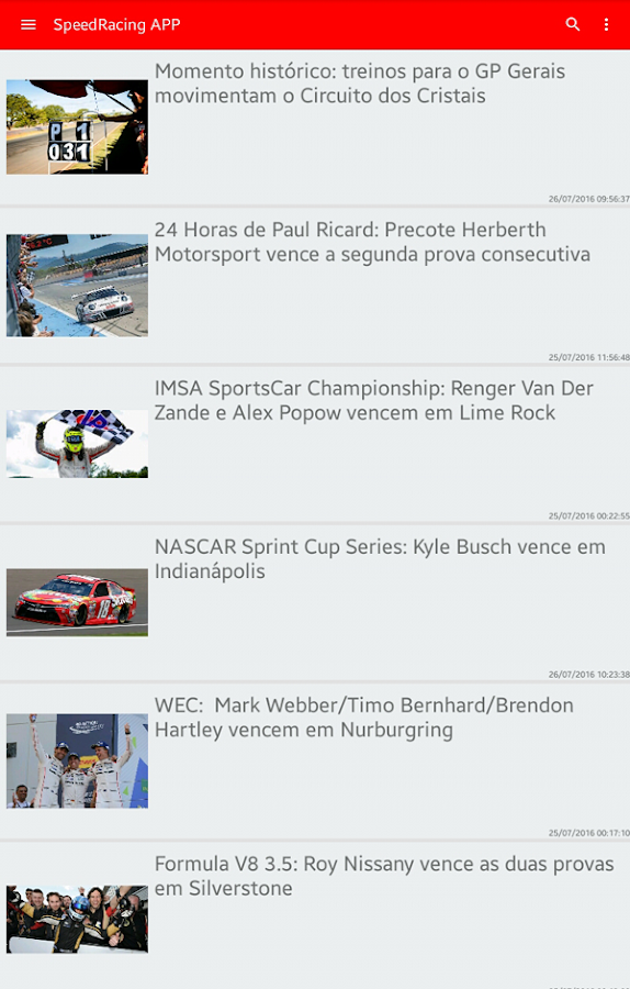 SpeedRacing.com.br - APP- screenshot