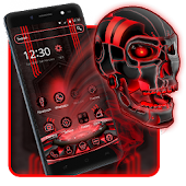 Tech Red Blood Skull Theme