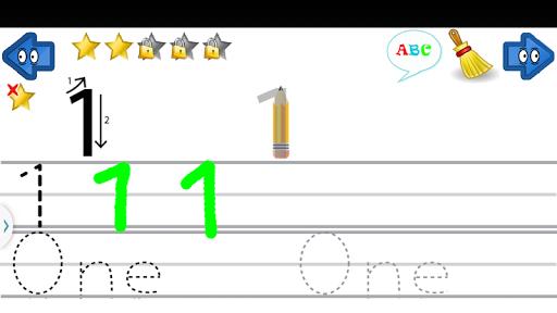孩子們學習寫字母 - ABC