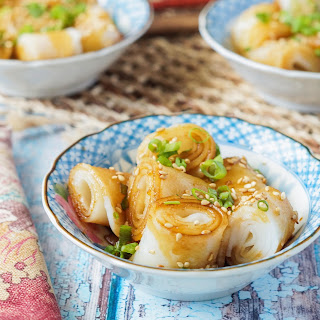 Cheung Fun (Steamed Rice Noodle Rolls).
