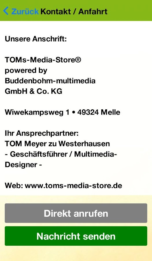 TOMsMediaStore – Screenshot