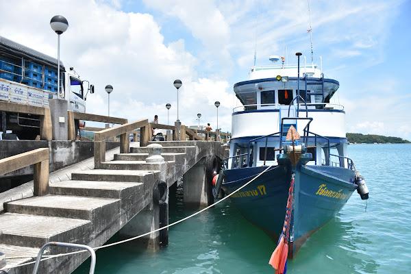 Board the escort boat with 2 decks