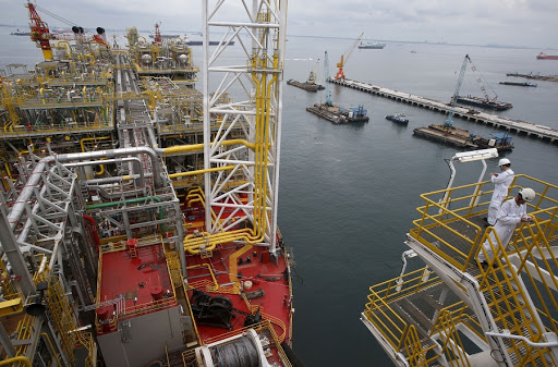 A view of the main deck of Tullow Oil's Floating Production, Storage and Offloading vessel. Picture: REUTERS