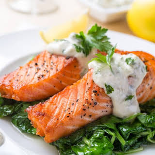 Cream Sauce Grilled Salmon Recipes.
