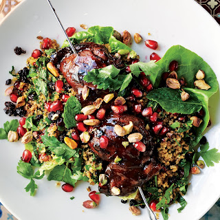 Pomegranate Molasses Chicken with Bulgur Salad.