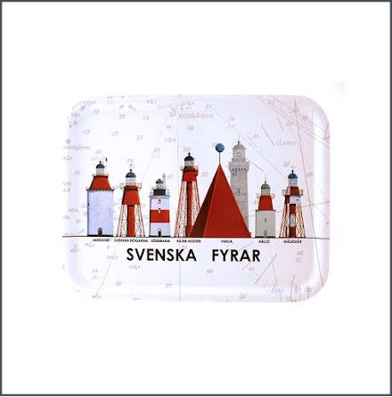 Bricka Svenska Fyrar - liten
