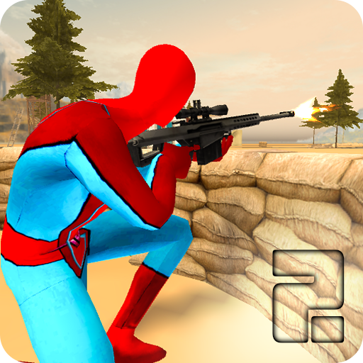 Spider vs Gangster Sniper Shooting