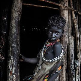 Boy Hamar by Damjan Voglar - Babies & Children Child Portraits ( portrait child boy tribe africa travel )