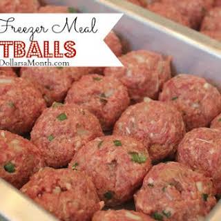 Easy Freezer Meal Meatballs.