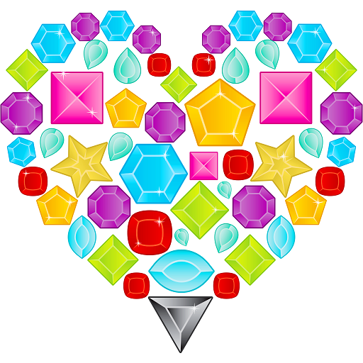 Animated Color by Number: Diamonds, Crystals, Neon Icon
